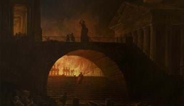Hubert Robert The Fire Of Rome Google Art Project