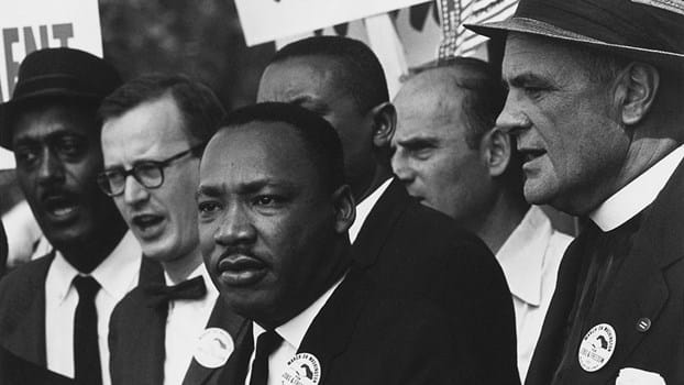 1024Px Civil Rights March On Washington, D.C. (Dr. Martin Luther King, Jr. And Mathew Ahmann In A Crowd.) NARA 542015 Restoration