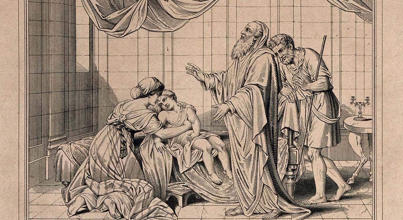 Elisha Raises The Shunammite's Son. Engraving By H. Moses, 1 Wellcome V0034328
